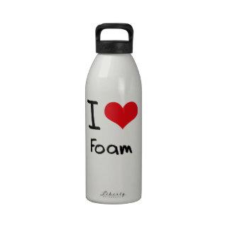 I Love Foam Water Bottle