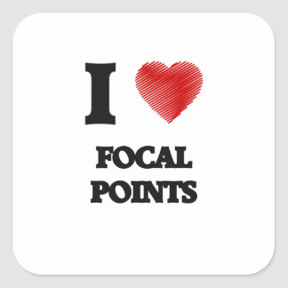 I love Focal Points Square Sticker