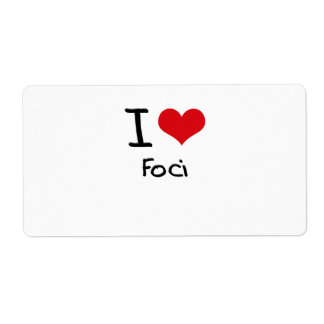 I Love Foci Shipping Label