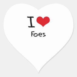 I Love Foes Heart Sticker