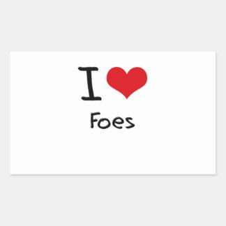 I Love Foes Rectangular Sticker