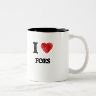 I love Foes Two-Tone Coffee Mug