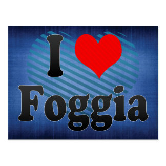 I Love Foggia, Italy Postcard