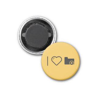 I Love Folder Additions 1 Inch Round Magnet