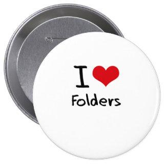 I Love Folders Pins