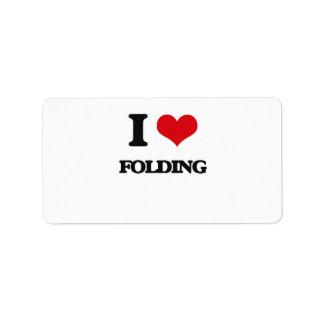 i LOVE fOLDING Personalized Address Label