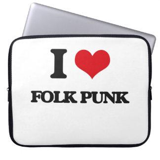 I Love FOLK PUNK Laptop Computer Sleeves