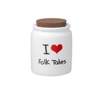 I Love Folk Tales Candy Jars