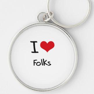 I Love Folks Key Chain