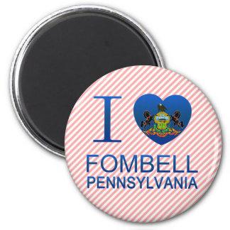 I Love Fombell PA Refrigerator Magnets