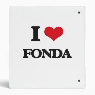 I Love Fonda Vinyl Binders