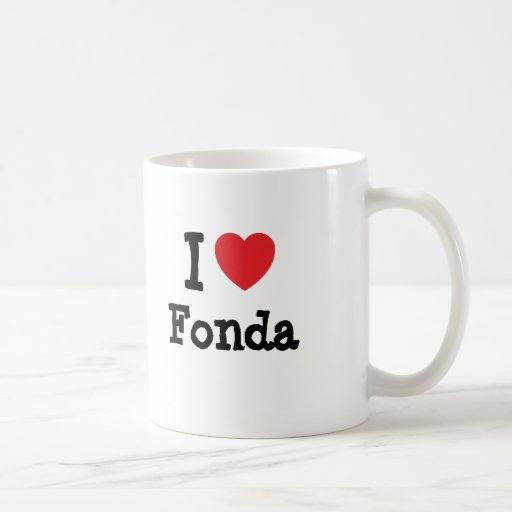 I love Fonda heart T-Shirt Mugs