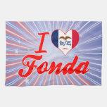 I Love Fonda, Iowa Kitchen Towel