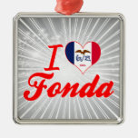 I Love Fonda, Iowa Ornaments
