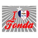 I Love Fonda, Iowa Postcard