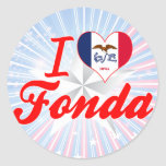 I Love Fonda, Iowa Stickers