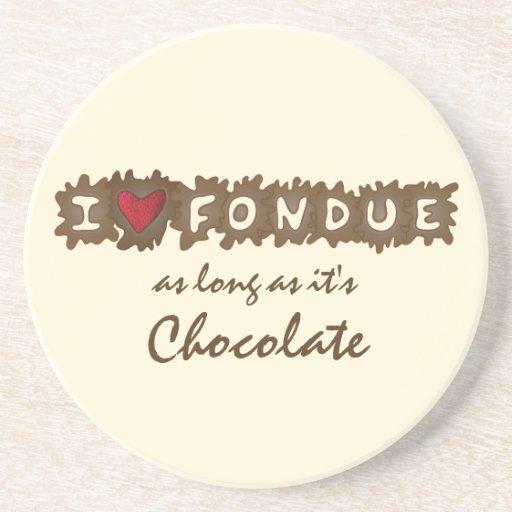I Love Fondue Coaster