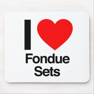 i love fondue sets mousepad
