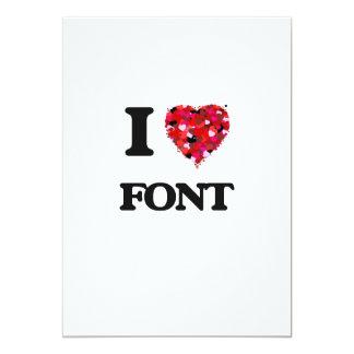 I Love Font 5x7 Paper Invitation Card
