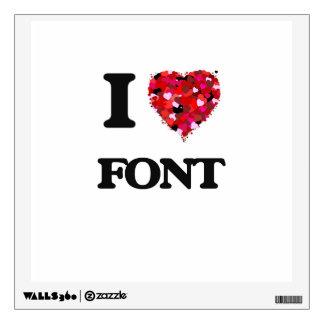 I Love Font Wall Skin