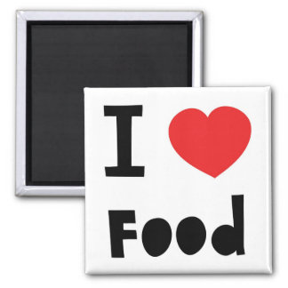 I love food 2 inch square magnet