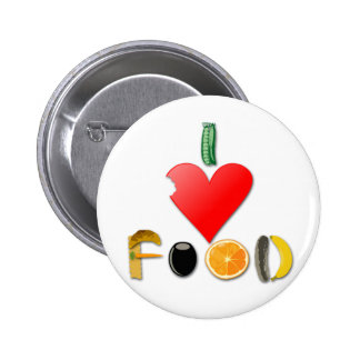 I Love Food Buttons