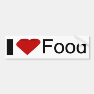 I love food car bumper sticker