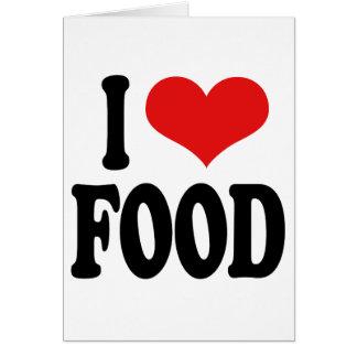 I Love Food Card