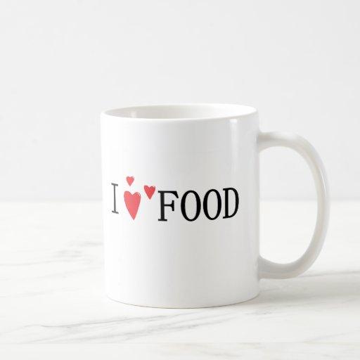 I love Food Classic White Coffee Mug