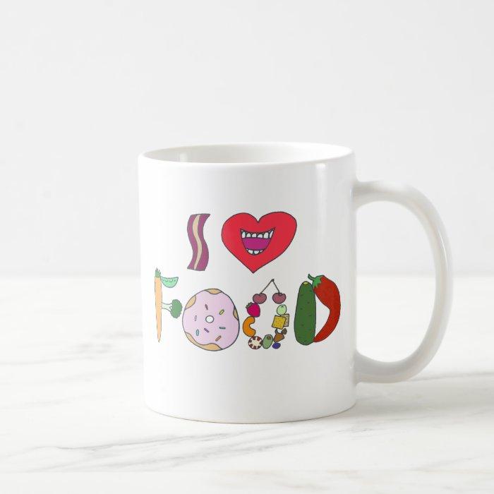I love food coffee mug