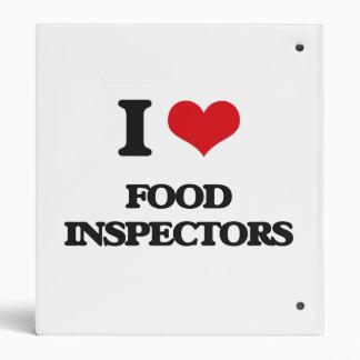 i LOVE fOOD iNSPECTORS Binders