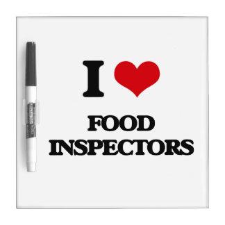 i LOVE fOOD iNSPECTORS Dry-Erase Whiteboard