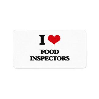 i LOVE fOOD iNSPECTORS Custom Address Labels