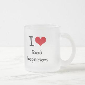 I Love Food Inspectors Frosted Glass Mug