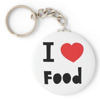 I love food key chain