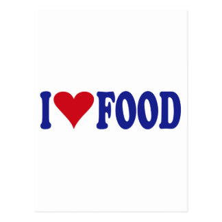 I Love Food Postcard