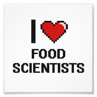 I love Food Scientists Photo Print