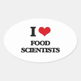 I love Food Scientists Oval Sticker