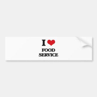 i LOVE fOOD sERVICE Car Bumper Sticker