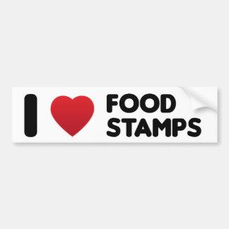 I Love Food Stamps Bumper Sticker