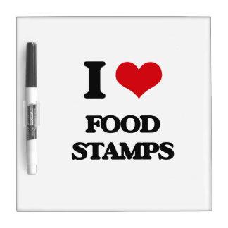 i LOVE fOOD sTAMPS Dry Erase Board