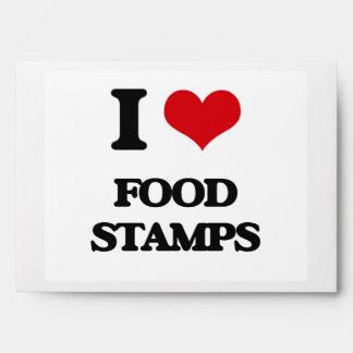 i LOVE fOOD sTAMPS Envelope