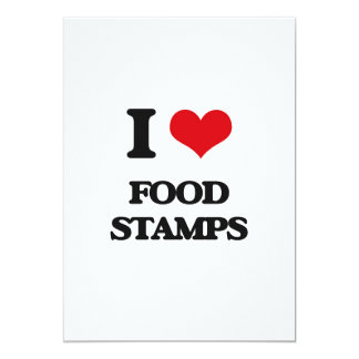 i LOVE fOOD sTAMPS Cards