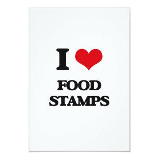 i LOVE fOOD sTAMPS Invites