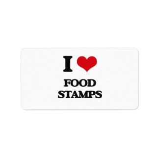 i LOVE fOOD sTAMPS Address Label
