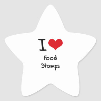 I Love Food Stamps Star Stickers