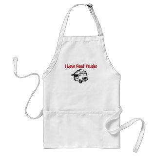 i love food trucks adult apron