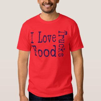 I love food trucks block tee shirt