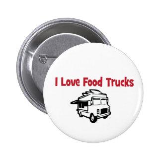 I love food trucks button
