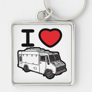I Love Food Trucks! Keychain